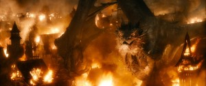 A scene from The Hobbit: The Battle of the Five Armies